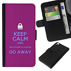 All Phone Most Case / Oferta Especial Cáscara Funda de cuero Monedero Cubierta de proteccion Caso / Wallet Case for HTC Desire 820 // Locked Padlock Purple Text Hands