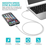 GANJOY iPhone Charger 3Pack 3FT/6FT/10FT(1M/2M/3M) Nylon Braided 8 pin Charging Cables USB Charger Cord, Compatible with iPhone 7/7 Plus/6s/6s Plus/6/6 Plus/5/5S/5C/SE/iPad and iPod (Silver)
