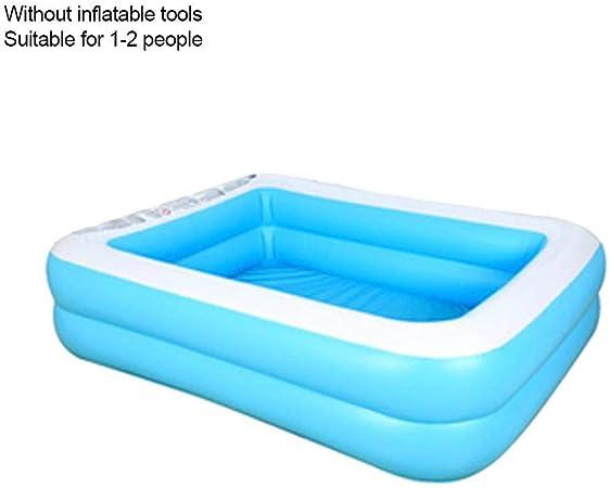 Piscina hinchable rectangular, PVC grueso, piscina interior para bebés, piscina de PVC, para interior y exterior, para niños y adultos, 128cm zweiter Ring: Amazon.es: Hogar