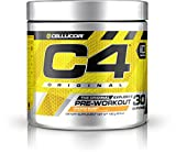 Cellucor C4 Original Pre Workout Powder Energy Drink w/ Creatine, Nitric Oxide & Beta Alanine, Orange Burst, 30 Servings
