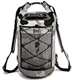 ZBRO Waterproof 40L Dry Bag with 2 Pockets, Padded Straps and Reflective Stripe