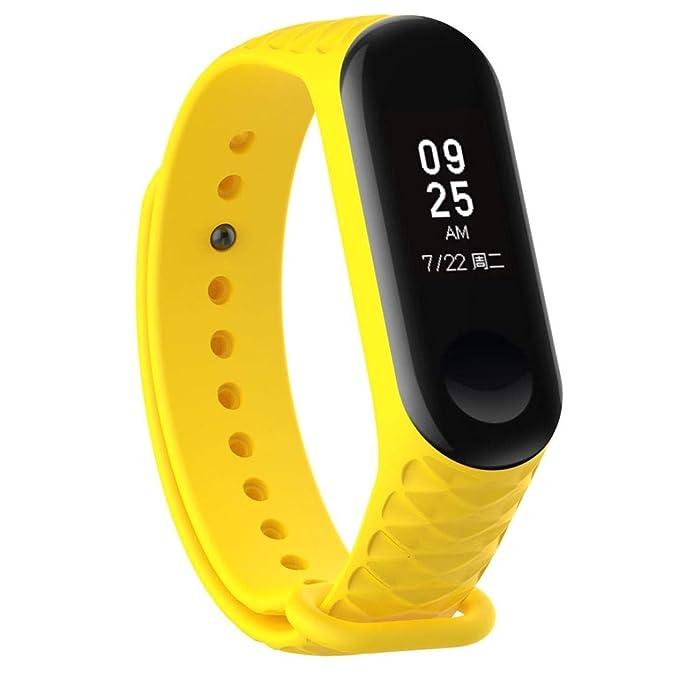Bestow XiaoMi Mi Band 3 Patr¨®n TPU Smart Reloj de Pulsera Correa de