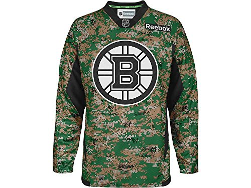 (Boston Bruins Reebok NHL Camouflage Pre-Game Warm Up Jersey (Small) )