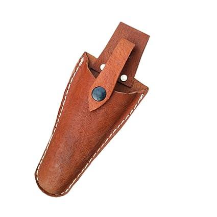 QEES Funda de cuero herramienta Holsters cinturón soporte para bolsa de jardinería Caso alicates, tijeras de podar, tijeras o jardín cuchillo de ...