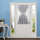 Elegance Blackout french door curtains/panel 54W by 40L Inches-grey