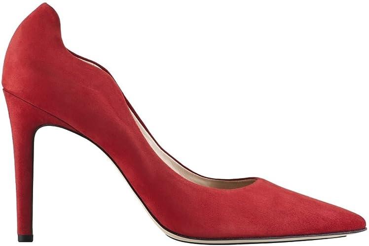 Hogl Womens Red Suede High Heels 109072