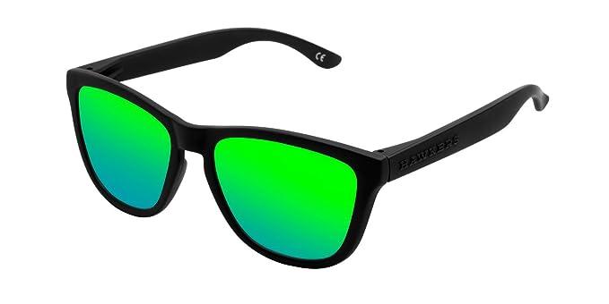 Hawkers Carbon Black Emerald Motion, Occhiali da Sole Unisex, Nero (Negro/Verde), 65