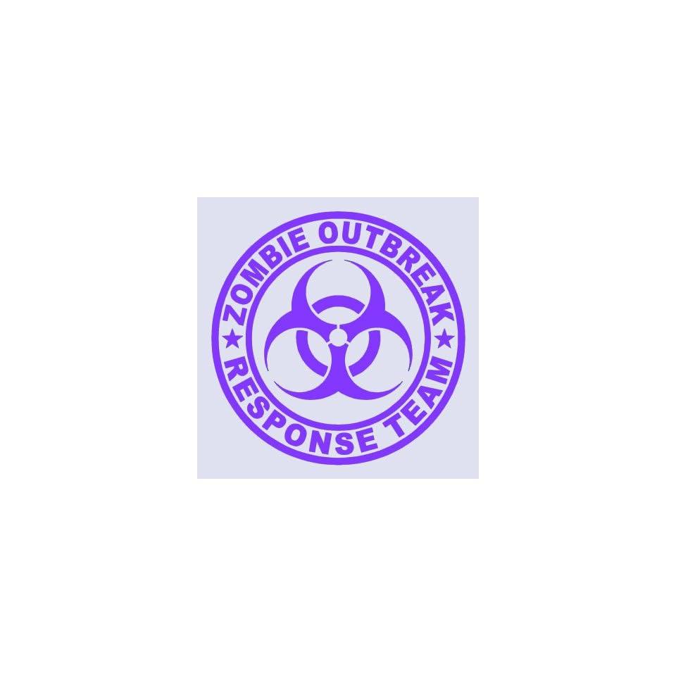 Zombie Outbreak Response Team PURPLE 5 Die Cut Vinyl Decal Sticker