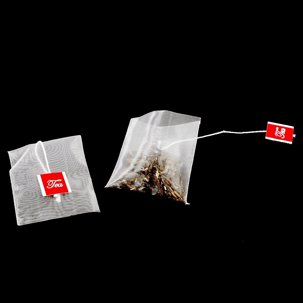 100pcs Vides en Nylon Infuseur de Th/é Sacs /à Tamis Filtre /épice avec Filtre M/énage Sachets Filtre /à Th/é