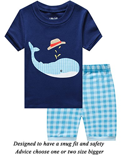 - Little Boys 3 Piece Short Pajamas 100% Cotton Toddler Pjs Summer Kids Clothes Shirts 24months