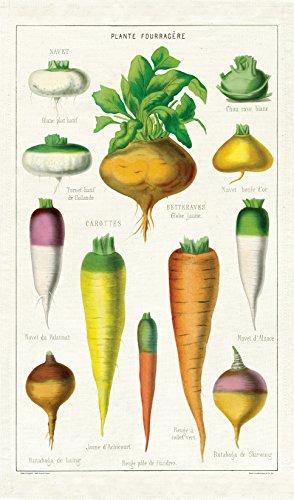Cavallini Papers & Co. Vintage Vegetables Cotton Tea Towel