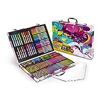 Crayola Inspiration Art Case In Pink, Suministros de arte y colorantes portátiles, 140 piezas, Regalos de Pascua para niños