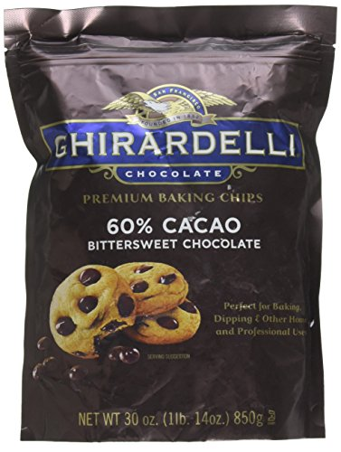 - Ghirardelli Cacao Bittersweet Chocolate Baking Chips, 30 Ounce
