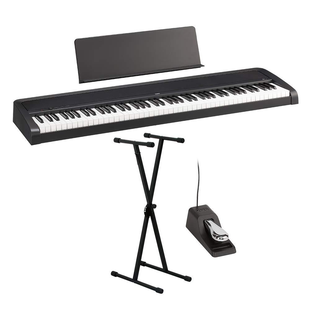 KORG B2 BK ブラック X型スタンドセット 電子ピアノ 88鍵盤 コルグ   B07T8GQKRC