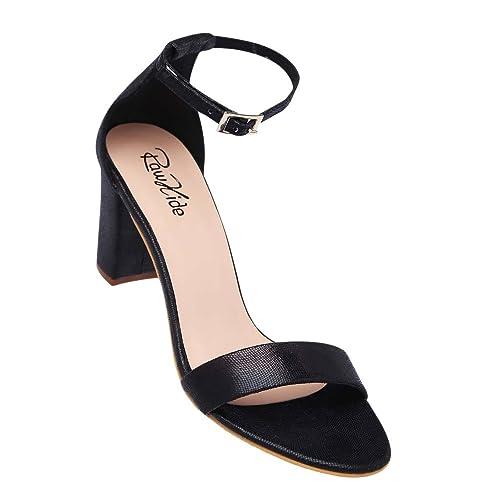 Raw Hide Women's Black Heels (202919611