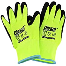 Large/ 6 Pair, Garden Gloves Latex Coated Work Gloves