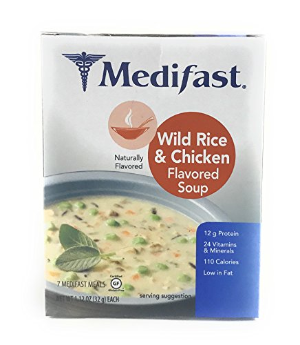 Medifast Wild Rice And Chicken Flavored Soup  1 Box 7 Servings