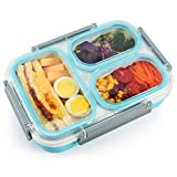 Bento Box for Kids, Lupantte Leak-Proof Lunch Box, 3-Compartment Large...
