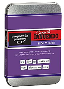 Sexual Innuendo Magnetic Poetry Kit - Words for Refrigerator - Write Poems and Letters on the Fridge