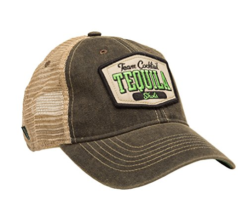 TEAM COCKTAIL Tequila Shots Mesh Trucker Hat - Black Hat (Black w/ Lime Green) ()