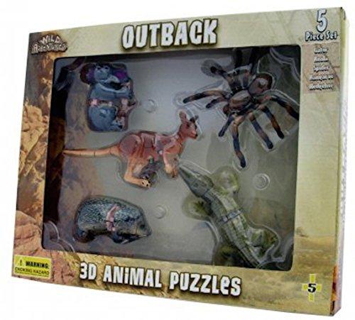 5 Animals Outback 3D Animal Spider Kangaroo Koala Alligator Puzzle for $<!--$12.99-->