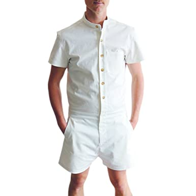 ddbc41423821 ZHUOTOP ZHUTOP Men s Short Sleeve Leisure Jumpsuits Overalls Short Pants   Amazon.co.uk  Clothing