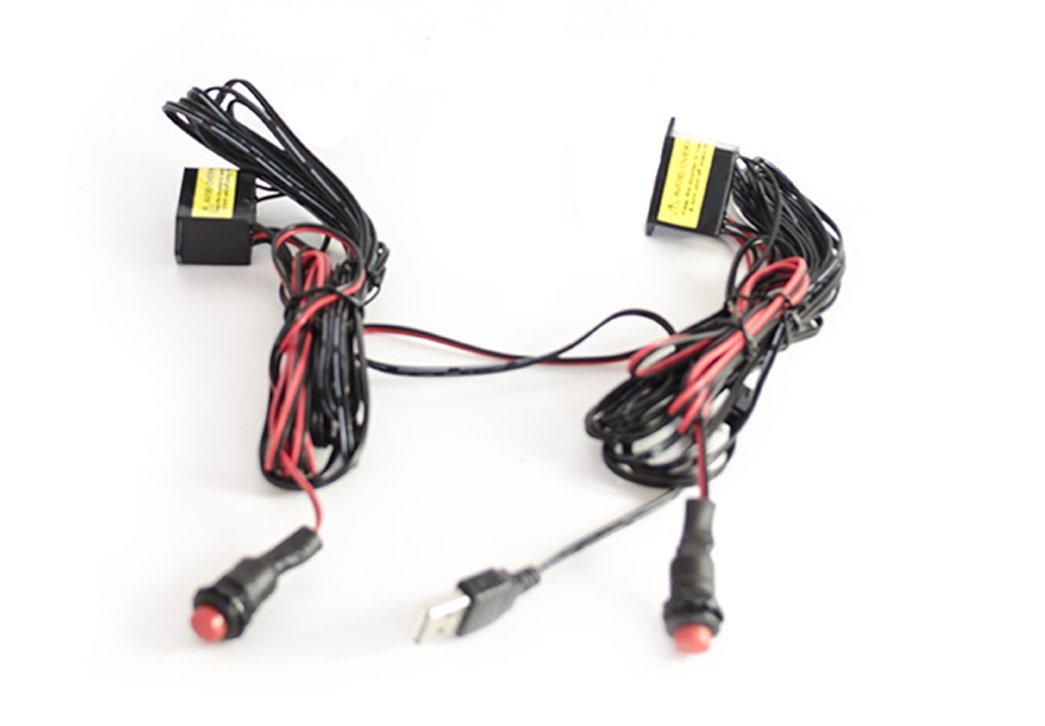 LightWorks DUO Replacement Wiring with Inverter for Lyft & Uber Glow Signs & EL Lights - USB Plug LightWorks Labs WIRINGDUO002USB