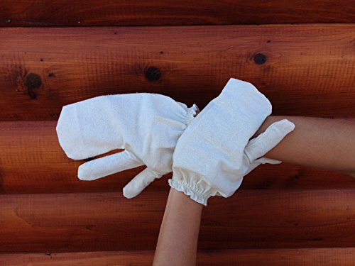 Healm 100% Raw Silk Garshana Gloves   Ayurvedic Massaging Mitts For Women   Dry Massage Brush for Lymphatic Drainage, Acne, Scars, Cellulite & Toxin Removal   Quick, Simple Instructions