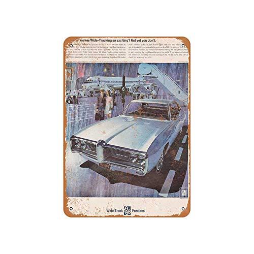 Pontiac Lemans 2 Door - Fhdang Decor Vintage Pattern 1968 Pontiac Lemans 2 Vintage Look Aluminum Sign Metal Sign,8x12 Inches