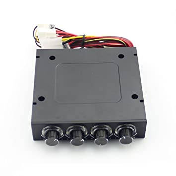 "3.5/"" PC HDD CPU 4 Channel Fan Speed Controller Control Led Cooling Front Panel"