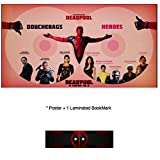 """DeadPool - Movie Poster (12"""" x 22"""") Glossy Finish (Thick, 8mil): Ryan Reynolds, Morena Baccarin PLUS 1 Laminated Bookmark"""