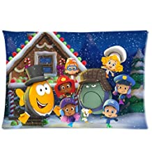 Soft Cotton Home Bedding Pillowcase Cushion Covers 1 Side 20x30-Print Hot Cartoon Bubble Guppies Cute Molly Gil Bubble Puppy Photos-5