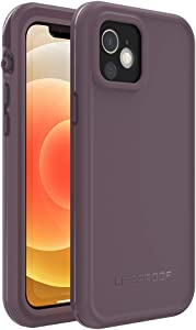 LifeProof FRE Series Waterproof Case for iPhone 12 (ONLY)- Ocean Violet (Berry Conserve/Dusty Lavender)