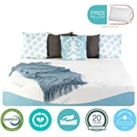 10 Inch Twin XL Size COOL Medium Gel Memory Foam Mattress - Sale - with FREE PILLOW