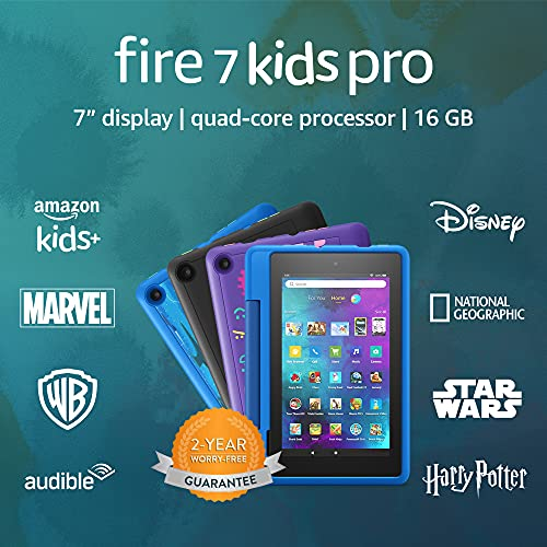 Fire 7 Kids Pro tablet   for ages 6+   7″ Display, 16 GB   Doodle Kid-Friendly Case