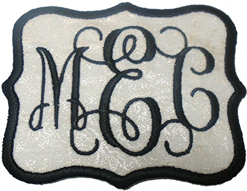 Custom Embroidered Vine Font Name Initial Monogram Iron On Applique Patch (4