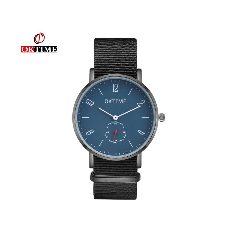 Men ' s Bussines Watch、Sinmaカジュアルレトロ腕時計PUレザーバンドアナログ合金クォーツ腕時計 B0722K9LZG C