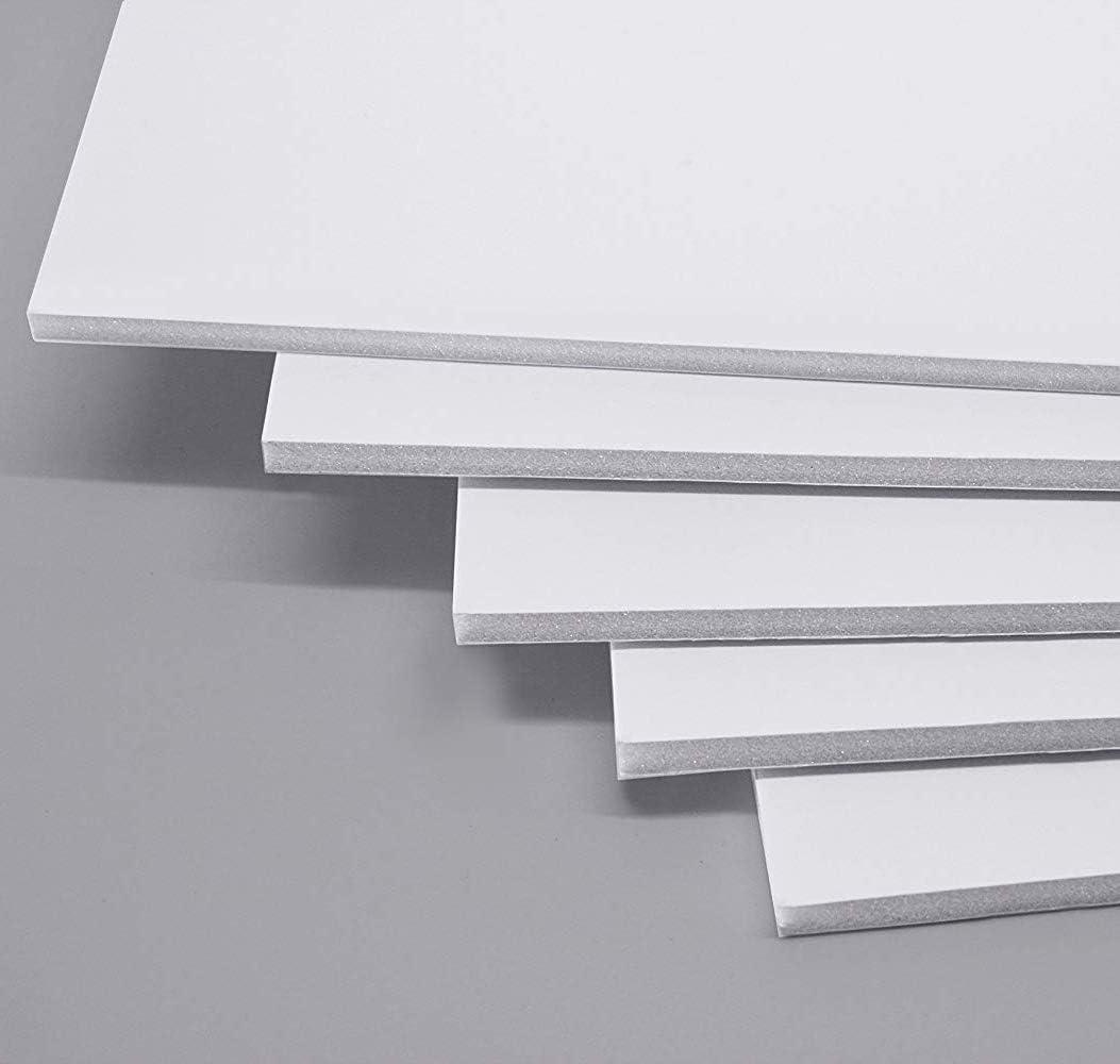 A+Selected - 16 tableros de espuma A3, hoja de espuma de poliestireno blanco de 5 mm (297 × 420 mm): Amazon.es: Oficina y papelería