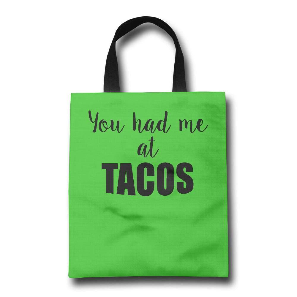 人気が高い Lqzdqa You Had Me at Tacos 耐久性 ファッション Had 再利用可能 ファッション ショッピングバッグ エコフレンドリー 耐久性 B07GVJ7LKR, 大きな取引:6a97e1ad --- by.specpricep.ru