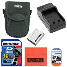 Intermediate Accessory Kit for Canon PowerShot D10 D20 D30 S90 S95 S120 SX170 IS SX260 HS SX280 HS SX600 HS SX700 HS Digital Camera - Includes NB6L NB6LH Battery & Charger + 16GB SD Memory Card + Deluxe Carrying Case + More!!