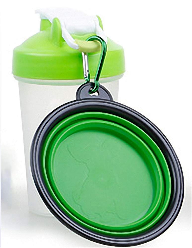 bluee DDPP Travel pet water bottle dog water dispenser bowl, 2 in 1 portable dog cup