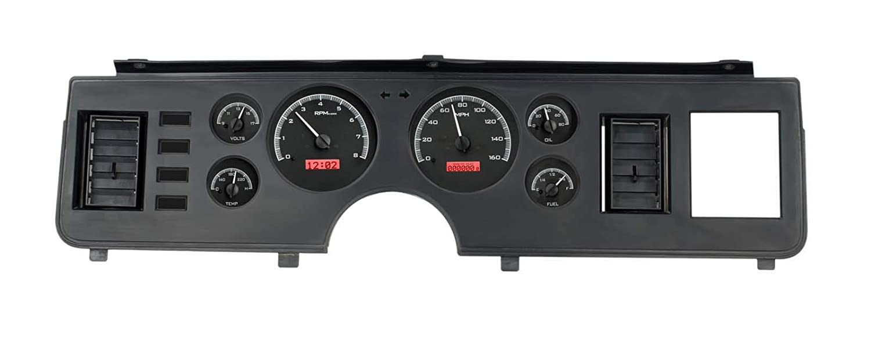 Dakota Digital 79-86 Ford Mustang Analog Dash Gauge Black Alloy Red VHX-79F-MUS-K-R