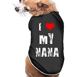 Dog Cat Pet Shirt Clothes Puppy Vest Soft Thin I Love My Nana 3 Sizes 4 Colors Available