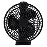 Mini USB Clip Fan Desk Fan Stepless Controllable Speed Mini USB Fan Portable Cooling Fan USB Powered by NetBook, Computer MacBook, Power Bank, and PC, 360° up and down, for Home Office -7 inch (Black)
