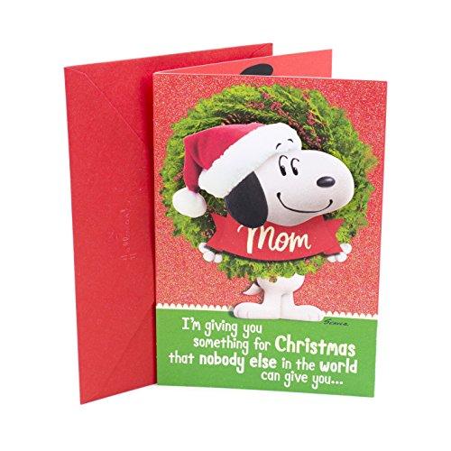 Hallmark Peanuts Christmas Card for Mom (Snoopy Wreath)