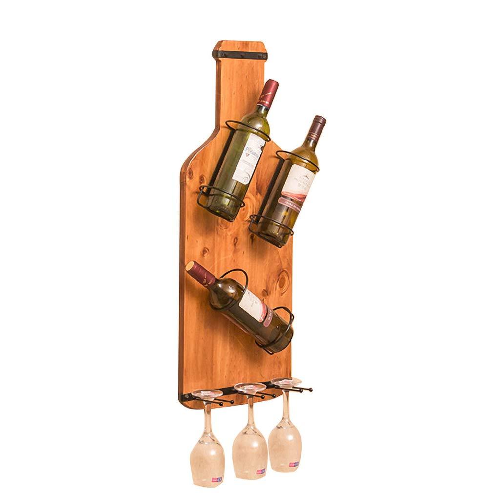 ワインラック ワインラック木製壁掛けワイングラスラック赤ワインゴブレットホルダーレストランの装飾 (色 : B) B07S2NZ4PD B