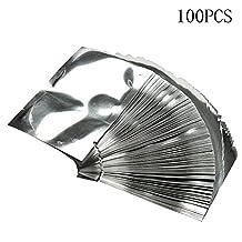BleuMoo 100pcs Silver Aluminum Foil Mylar Bag Vacuum Sealer Food Storage Package