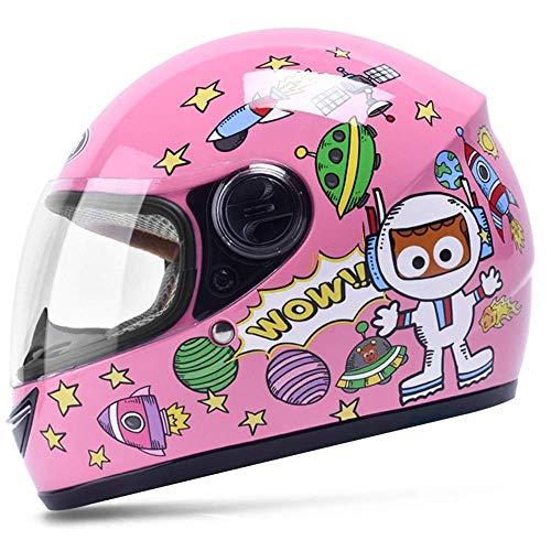 Kinderhelm Elektrisches Motorrad Junge Weibliches Kind Baby Vier Jahreszeiten Cartoon Helm Sommer Half Helm (Color…