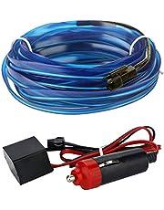 12V Car Interior Light Strip Modified Atmosphere 3M Neon El Wire for Car Decoration, Blue