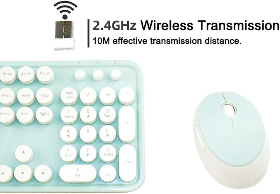 for Win 10//8//7//XP MAC Color : Green 104 Key Full Size//Intelligent Power Saving FASDGDFGS Ergonomic Wireless Punk Keyboard /& Mouse Set with Adjustable Bracket
